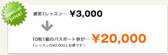 10枚1組のパスポート券が… ¥20,000